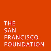 "White text against orange background reads, ""The San Francisco Foundation"""